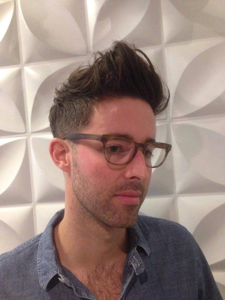 Hair by Tim. To get this style Tim recommends blow drying with Kevin.Murphy Hair Resort to add soft natural texture and then use KM Ruff Rider clay to hold the look.