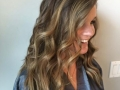 Balyagae foil method on virgin brown hair.