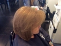 Before and after color and cut