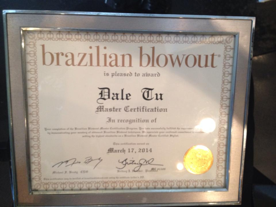 Brazillian Blowout Certified
